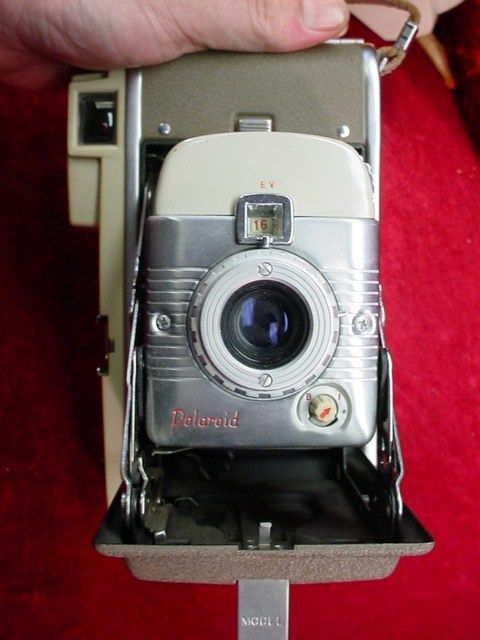 Vintage POLAROID Land CAMERA Model 80 w/ Wink Light BC FLASH Bracket