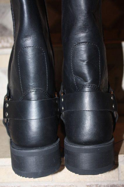 Harley Davidson Mens Black Motorcycle Harness Boots 13 D MINT Frye 12R