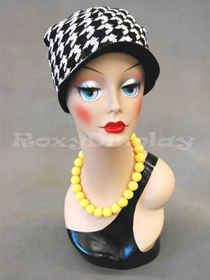 Mannequin Head Bust Wig Hat Jewelry Display #VF002