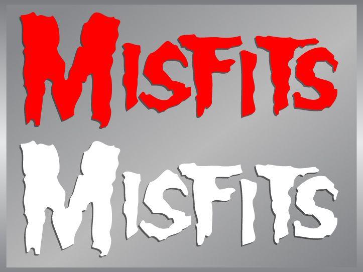 The Misfits Logo cut vinyl decal stickers classic punk
