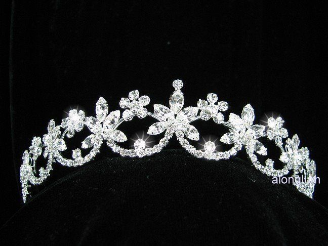 Wedding Bridal Bridesmaid Prom Tear Swarovski Crystal Rhinestone Tiara