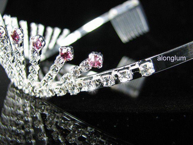 A51 1 Pink Wedding Bridal Bridesmaid Party Swarovski Crystal