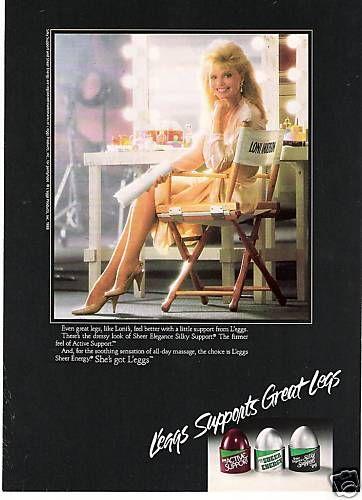 1987 orig LONI ANDERSON Leggs mag ad