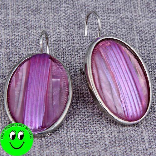 pink enamel herringbone chain necklace earring set 42N003