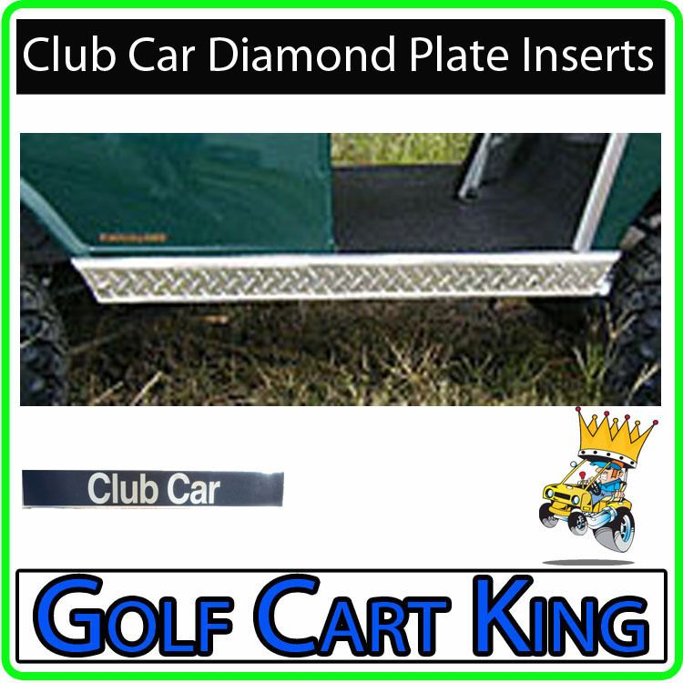 Club Car Golf Cart Diamond Plate Rocker Panel Inserts