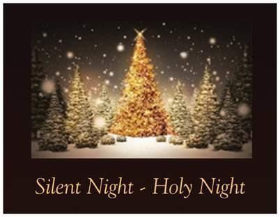 20 CHRISTMAS Trees SNOW Silent Night Greeting Post Cards PRINTED US OR