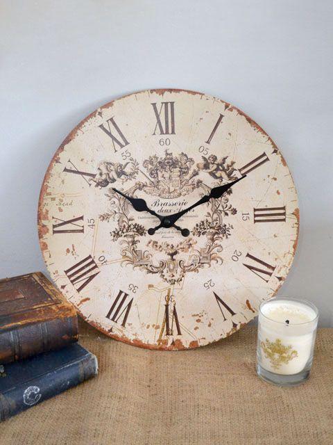 Shabby Cottage Chic French Cherub Angel Wall Clock Sm