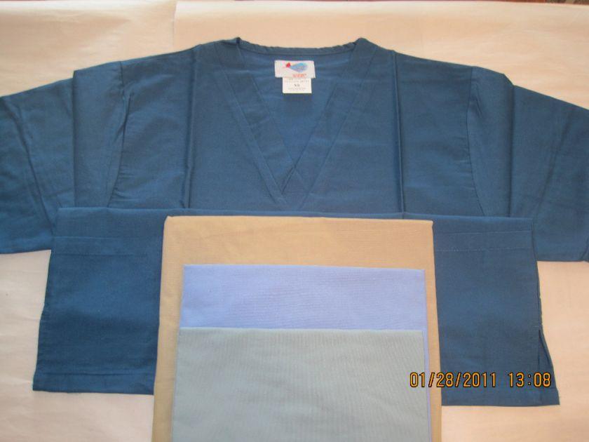 NWT Unisex Nurse Medical Dental Scrubs Scrub Tunic Top