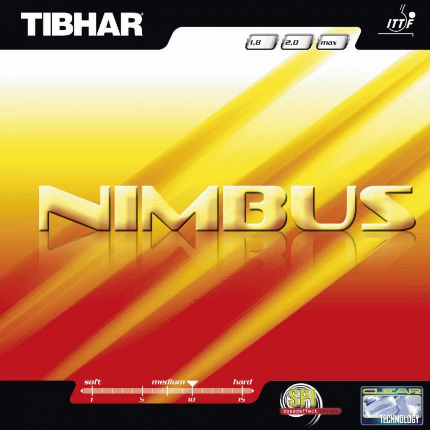 FREE SHIP) TIBHAR NIMBUS Table Tennis Rubber Ping Pong Paddle